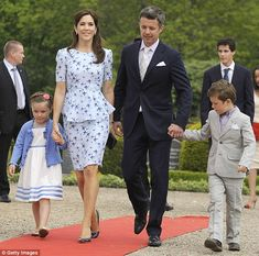 Commoner to royalty: Born in Hobart, Australia, the Queen-in-waiting (pictured with husband, Frederik, Crown Prince of Denmark, and two children, Princess Isabella and Prince Christian) is nicknamed Australia's Princess