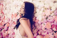 The Daalarna Flower Collection for Spring 2016 is a fabulously feminine bridal collection full of lace, tulle, pearls and pretty watercolour florals. Designer Wedding Dresses, Wedding Gowns, Boho Gown, Bridal Jumpsuit, Wedding Inspiration, Design Inspiration, Sexy Poses, Dream Dress, Bridal Collection