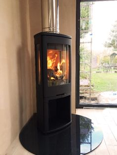 Freestanding wood-burners and multi-fuel stoves available from we offer the best…, – Freestanding fireplace wood burning Wood, Contemporary House Design, Pretty House, Wood Burning Logs, Granite Hearth, New Homes, Wood Burner, Modern Wood, Corner Stove