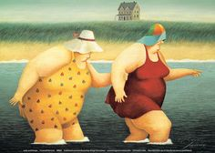 Judy and Marge Posters by Lowell Herrero at AllPosters.com