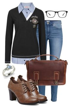 """Ivy League"" by deliag ❤ liked on Polyvore featuring Diamondere, H&M, Overland Sheepskin Co., Steve Madden and Joseph Marc"