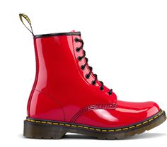 #1460 W Dr #Martens in #cherry_red, really cool Waiting for better weather to wear my own pair!