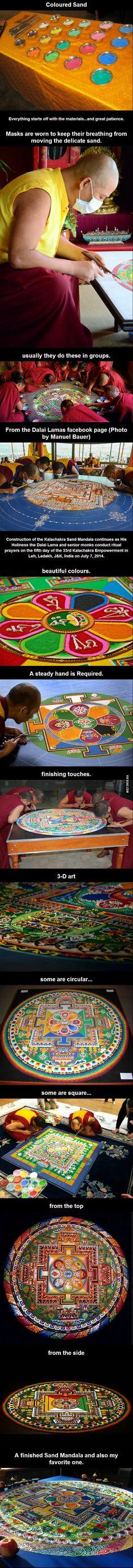Sand Mandala creation. amazing