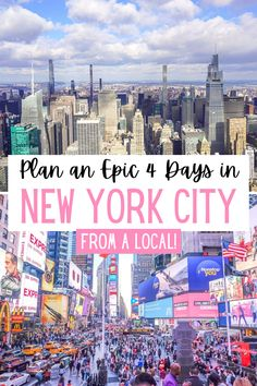 Plan 4 Days in New York City using this epic guide written by a local. Get detailed, day-by-day planning with NYC maps and helpful New York City travel tips! #travel #NYC #NewYorkCity
