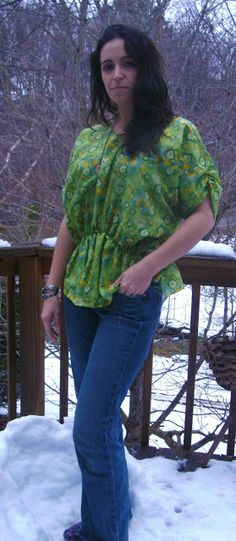 Sew Homegrown: Free Spirit Tunic Tutorial. I like the higher neckline on this.