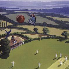 Cricket Ball - Fine Art Greeting Card