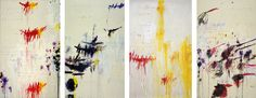 """The four seasons are one of the key subjects of Western art. They form a satisfying whole, and in the past would have supplied a rich patron with a  beautiful and showy cabinet of treasures. A four-part work can surround the owner and transform the year into a  four-sided room. Twombly's """"Four Seasons"""" reduce the conventions to their basics. In """"Winter"""" the treatment is nothing more than a sooty black scrub, tinged with a very dirty-looking yellow. Yellow runs through these seasons like a…"""