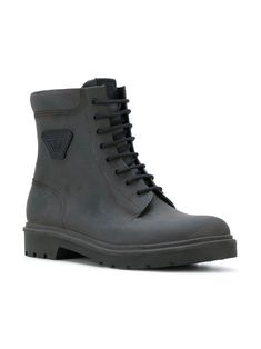 Shop Armani Jeans lace-up ankle boots Lace Up Ankle Boots, Armani Jeans, High Tops, Combat Boots, High Top Sneakers, Wedges, Shopping, Black, Fashion