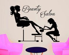 Wall Decal Beauty Salon Hair Spa Fashion Styling is by CozyDecal
