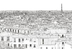 Coloriage Toits de Paris