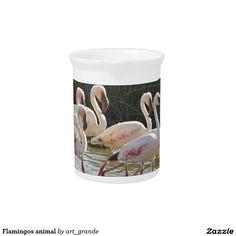 Flamingos animal pitcher