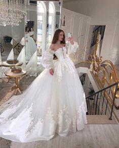 Princess Wedding Dresses, Dream Wedding Dresses, Bridal Dresses, Princess Gowns, Ball Gown Wedding Dresses, Disney Inspired Wedding Dresses, White Princess Dress, Princess Outfits, Royal Wedding Gowns