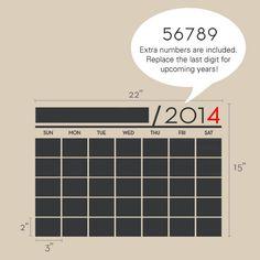 Calendario da parete lavagna vinile adesivi di SimpleShapes