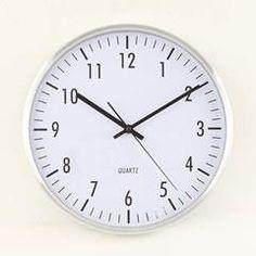 ALLUMINIUM WALL CLOCK IN SILVER COLOR 30X(4)