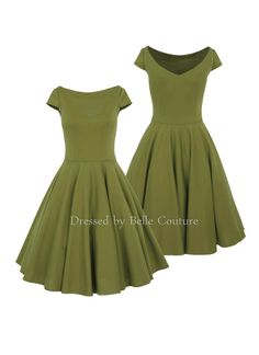 - 50er Jahre inspiriertes Jersey Kleid mit Tellerrock - U-Bootausschnitt vorne - Rückendekolleté mit V-Ausschnitt - kurze Ärmel - Rocklänge auswählbar - das Kleid kann mit Petticoat getragen...