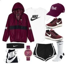 Untitled #71 by thesabriner on Polyvore featuring NIKE, Victoria's Secret and Nixon