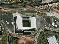 Estadios del mundial. Arena de São Paulo en Itaquera tiene una capacidad para 69.160 personas.