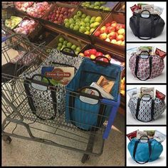 The Clever Shopper, holds up to 40 lbs!  Www.CleverContainer.com/callie