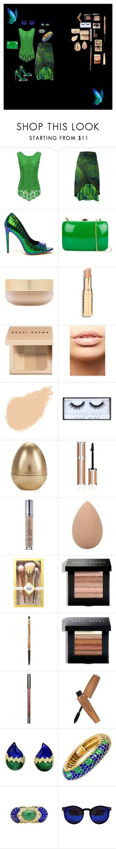 """Blue/Green Boho"" by bestnana7777 ❤ liked on Polyvore featuring Issey Miyake, Rocio, Eve Lom, Bobbi Brown Cosmetics, MDMflow, NARS Cosmetics, Huda Beauty, Tony Moly, Givenchy and Urban Decay"