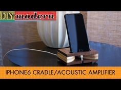 DIY Modern – Do-It-Yourself Projects for the Modern Crib. Make a modern iPhone cradle/amplifier