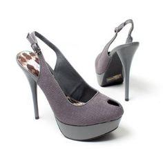 Amazing Shoes For Women / Qupid Womens Shoes High Heel Platform Stiletto Slingback Pump Sandal, Gray Faux Suede,$32.99   