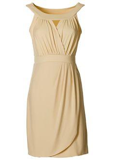 Vestido de malha bege encomendar agora na loja on-line bonprix.de R$ 99,90 a partir de Em moderno look transpassado, com pequena abertura no decote ...