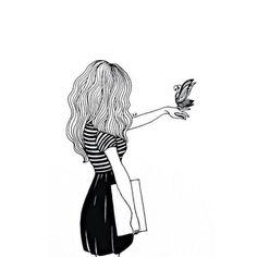 Картинка с тегом «girl, black, and art»