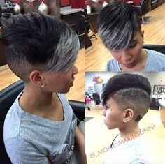 - Black Hair Information Community Shaved Side Hairstyles, Mohawk Hairstyles, Ladies Hairstyles, Short Sassy Hair, Short Hair Cuts, Love Hair, Great Hair, Curly Hair Styles, Natural Hair Styles