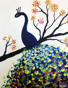 """Show your true colors! Paint the """"Royal Peacock"""" at a local #PaintNite."""