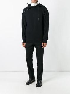 Pierre Balmain asymmetric zip up hoodie