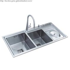 """Stainless Steel Kitchen Sinks With Drainboards bai 1235 - 48"""" handmade stainless steel kitchen sink double bowl"""