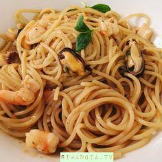Seafood Pasta - Spaghetti ai frutti di mare (1) Scaramuzza (@SIMANGIATV) | Twitter
