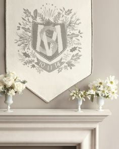 Stunning monogrammed banner by @Ashley Walters Walters Yoon Menocal