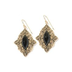 14K Gold and Onyx Earrings Mateo Bijoux lZeKFRpk
