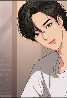 Webtoon-the secret of angle Suho, Handsome Anime Guys, Cute Anime Guys, The Secret, Anime Korea, Korean Anime, Anime Friendship, Black Phone Wallpaper, Nature Sketch