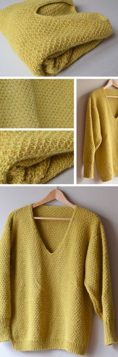 Tricot Rue Mazarine Rg 1 : end , env à répéter bout , Rgs 2 et 4 : tout… Easy Knitting, Knitting Stitches, Knitting Yarn, Crochet Poncho, Crochet Sweaters, Diy Clothes, Knitting Patterns, Knitting Ideas, Textiles