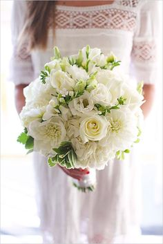 All White Wedding Bouquets Inspiration ❤ See more: http://www.weddingforward.com/white-wedding-bouquets-inspiration/ #weddings