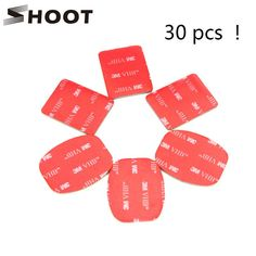 SHOOT 30Pcs Red 3M VHB Adhesive Sticker 15 Curved 15 Flat Double Side Adhesive Tape For Gopro hero 4 3+ 2 3 SJ4000 Helmet Mount $10.99   #stylish #cute #love #instafashion #fashionista #beauty #fashion #shopping #sweet #cool #style #beautiful #streetstyle #pretty #swag