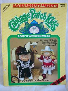 Cabbage Patch Pony & Western Wear Pattern Book - $15.00 Free Shipping.