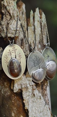 Huge Lake Superior Agates on recycled sterling silver pendants. Sterling  Silver Pendants aa9676c8dc3