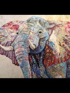 Amazing quilt using Kaffe Fassett fabrics