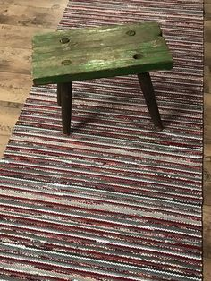 Ikea Rug, Recycled Fabric, Rugs On Carpet, Carpets, Woven Rug, Weaving, Furniture, Rag Rugs, Tear