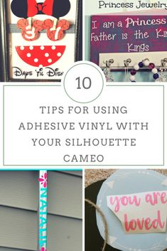 It is easy to get crafty with adhesive vinyl! ~ 10 Tips for Using Adhesive Vinyl with Your Silhouette Cameo #silhouettecameo #vinylcrafts #diy #gifts #adhesivevinyl