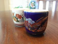 Pair of vintage sake glasses cobalt blue with by housedeAlcancotes, $6.00