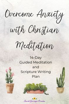 Christian meditation on key verses can help you overcome anxiety. Check out my guided meditation and Scripture writing plan to help you find peace in God's Word. Meditation Videos, Meditation For Beginners, Guided Meditation, Christian Living, Christian Faith, Christian Women, Christian Meditation, Writing Plan, Spiritual Disciplines