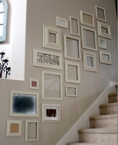 Most Popular Ideas For Stairway Gallery Wall Ideas Stairway Photos, Stairway Gallery Wall, Stairway Walls, Stair Gallery, Gallery Wall Layout, Staircase Frames, Frame Gallery, Spiral Staircases, Staircase Design