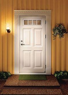 Ytterdörr Ascot 300 i massiv ek Exterior Doors, Interior And Exterior, Entrance Doors, Garage Doors, 1920s House, Painted Front Doors, Tall Cabinet Storage, Villa, Windows