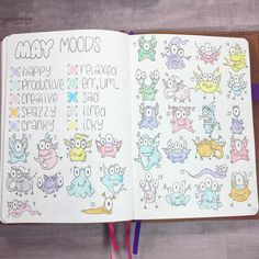 Dozens of Gorgeous Mood Trackers That Will Make Your Soul Smile Bullet Journal Free Printables, Bullet Journal Junkies, Bullet Journal Layout, Bullet Journal Inspiration, Bullet Journals, Journal Ideas, Passion Planner, Happy Planner, Arc Planner