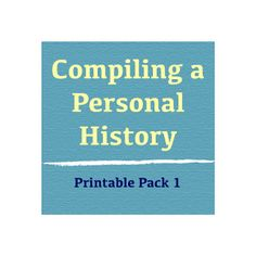 Hot Commodity Home Decor: Compiling a Personal History, Part 1 #freeprintable #familyhistory