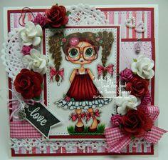 card by Leah Ann Gast... using a Sherri Baldy Big-Eyed Bestie